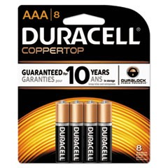 CopperTop Alkaline Batteries, AAA, 8/PK, 40 PK/Carton