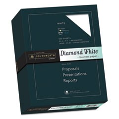 25% Cotton Diamond White Business Paper, 20lb, 95 Bright, 8 1/2 x 11, 500 Sheets