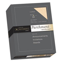 Parchment Specialty Paper, Copper, 24lb, 8 1/2 x 11, 500 Sheets