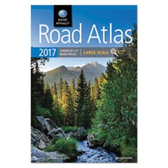 Large Scale Road Atlas, North America+Puerto Rico, Large Type, Soft Cover, 2017