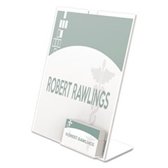 Superior Image Sign Holder With Pocket, 8 1/2w x 4 1/2d X 11h, Clear