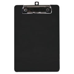 "Plastic Clipboard, 1/2"" Capacity, 6 x 9 Sheets, Black"