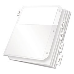 Poly Ring Binder Pockets, 11 x 8 1/2, Clear, 5/Pack
