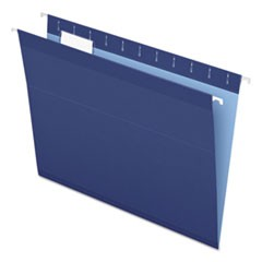 Reinforced Hanging Folders, 1/5 Tab, Letter, Navy, 25/Box
