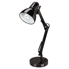 "Architect Desk Lamp, Adjustable Arm, 22"" High, Black"