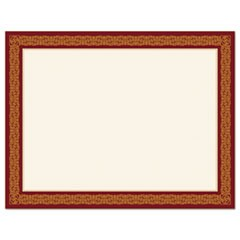 Award Certificates, Burgundy/Gold, 8 1/2 x 11, Gold Border, 15/Pack
