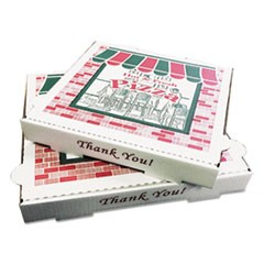 Takeout Containers, 14in Pizza, White, 14w x 14d x 2 1/2h, 50/Bundle