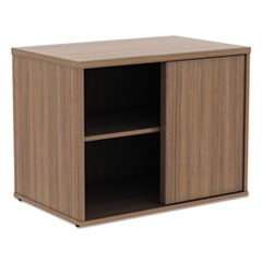 Alera Open Office Low Storage Cabinet Credenza, 29 1/2 x 19 1/8x 22 7/8, Walnut