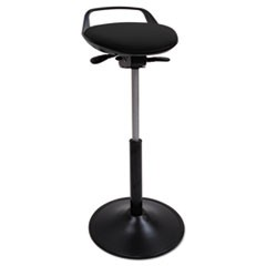 Perch Sit Stool, Black with Black Base