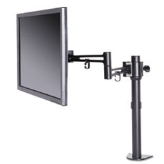 AdaptivErgo Pole-Mounted Monitor Arm, Single Monitor up to 32�, Black