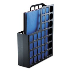 Plastic Magazine File, 3 x 9 1/2 x 12 1/2, Black