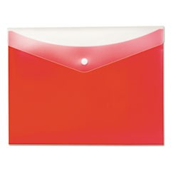 Poly Snap Envelope, 8 1/2 x 11, Strawberry