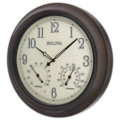 "Weather Master Wall Clock, 18"" Diameter, Oil Rubbed Bronze"