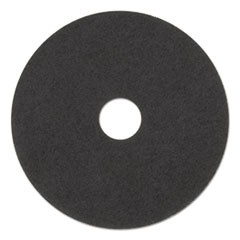 "Ultra High-Speed Natural Hair Floor Pads, 15"" Diameter, Black, 5/Carton"