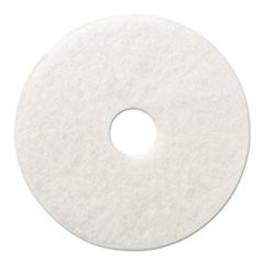 "Standard Polishing Floor Pads, 12"" Diameter, White, 5/Carton"