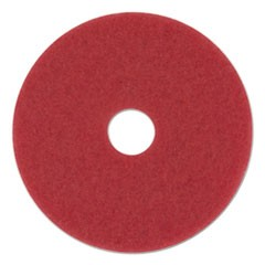 "Standard Floor Pads, 20"" Diameter, Red, 5/Carton"
