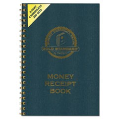 Money Receipt Book, 7 x 2 3/4, Carbonless Duplicate, Twin Wire, 300 Sets/Book