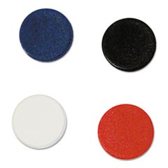"Interchangeable Magnetic Characters, Circles, Assorted, 3/4"" Dia, 10/Pack"