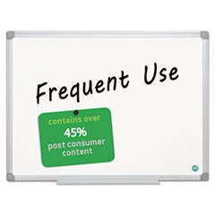 Earth Gold Ultra Magnetic Dry Erase Boards, 36 x 48, White, Aluminum Frame