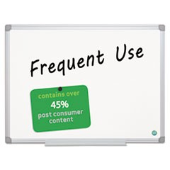 Earth Gold Ultra Magnetic Dry Erase Boards, 24 x 36, White, Aluminum Frame