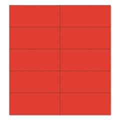 "Dry Erase Magnetic Tape Strips, Red, 2"" x 7/8"", 25/Pack"