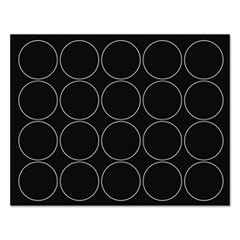 "Interchangeable Magnetic Characters, Circles, Black, 3/4"" Dia., 20/Pack"