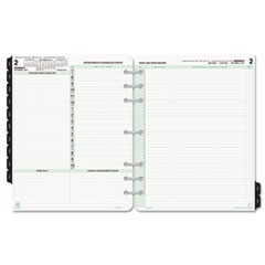 Reference Dated Two-Page-per-Day Organizer Refill, Jan.-Dec., 8 1/2 x 11, 2019