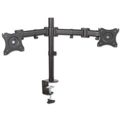 Monitor Arm, Dual Monitor, Articulating, 32 x 3 x 17 1/2, Black