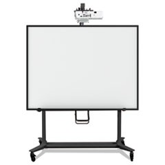 Interactive Board Mobile Stand With Projector Arm, 76w x 26d x 86h, Black