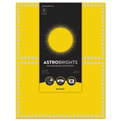 Foil Enhanced Certificates, 8.5 x 11, Solar Yellow/Silver Foil, 2/Sht,15Sh/Pk