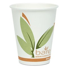 Bare by Solo Eco-Forward Recycled Content PCF Paper Hot Cups, 8 oz, 400/Carton