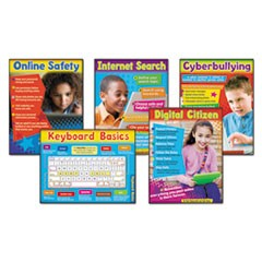 Learning Chart Combo Pack, Technology, Online Safety, 18w x 27 1/4h, 5/Set