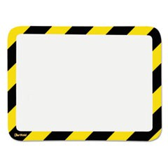 High Visibility Safety Frame Display Pocket-Self Adhesive,10 1/4 x 14 1/2, YW/BK