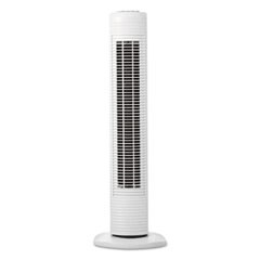 "Oscillating Tower Fan, Three-Speed, White, 5 9/10""W x 31""H"