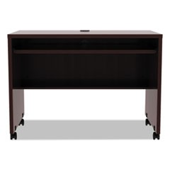 Alera Valencia Mobile Workstation Desk, 41 3/8 x 23 5/8 x 29 7/8, Mahogany