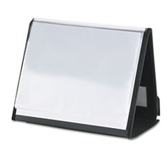 ShowFile Horizontal Display Easel, 20 Letter-Size Sleeves, Black