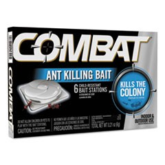 Combat Ant Killing System, Child-Resistant, Kills Queen & Colony, 6/Box