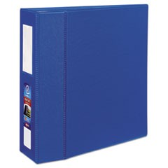 "Heavy-Duty Binder with One Touch EZD Rings, 11 x 8 1/2, 4"" Capacity, Dark Blue"