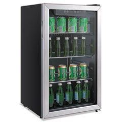 3.4 Cu. Ft. Beverage Cooler, Stainless Steel/Black