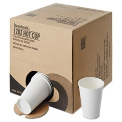 Convenience Pack Paper Hot Cups, 12 oz, White, 225/Carton