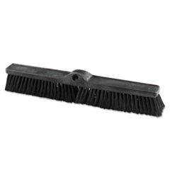 "Heavy Duty Push Broom Rough Surface, 24"" x 3"", Black, Polypropylene, 12/Carton"