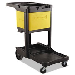 Locking Cabinet, For Rubbermaid Commercial Cleaning Carts, Yellow