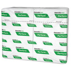 Perform Interfold Napkins, 1-Ply, 6 1/2 x 4 1/4, White, 376/PK, 6016/Carton