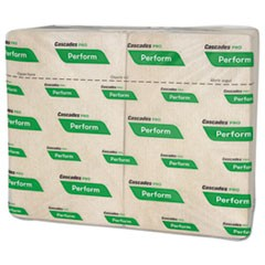 Perform Interfold Napkins, 1-Ply, 6 1/2 x 4 1/4, Natural, 376/PK, 6016/Carton