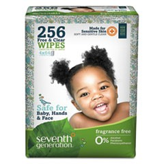 Free & Clear Baby Wipes, Refill, Unscented, White, 256/Pack