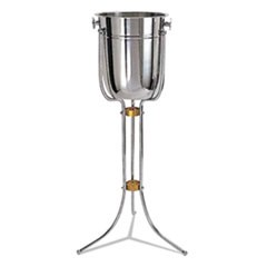"Wine Bucket Stand, Cast Aluminum, 30"" Height"