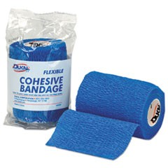"First-Aid Refill Flexible Cohesive Bandage Wrap, 3"" x 5 yd, Blue"