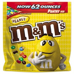 Milk Chocolate Coated Candy w/Peanut Center, 62 oz