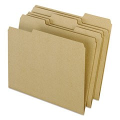 Earthwise by Pendaflex Recycled File Folders, 1/3 Top Tab, Ltr, Natural, 100/Box