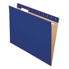 Colored Hanging Folders, 1/5 Tab, Letter, Navy, 25/Box